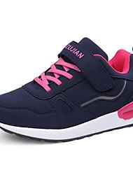 Недорогие -Жен. Обувь Кожа Весна Осень Удобная обувь Спортивная обувь Для прогулок На плоской подошве для Атлетический Темно-синий Вино