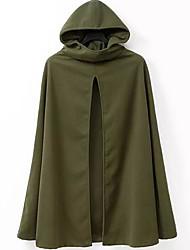 Overdimensionerede, Dame Ensfarvet Afslappet Cloak / Capes