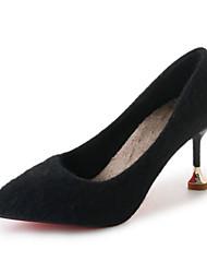 Недорогие -Жен. Обувь Бархатистая отделка Весна Осень Удобная обувь Обувь на каблуках На шпильке для Повседневные Черный Хаки