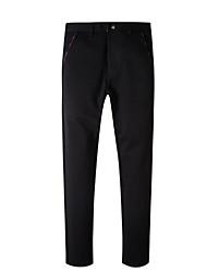 Недорогие -мужские штаны среднего роста, брюки из непромокаемого хлопка, простая твердая хлопковая пружина