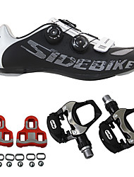 cheap -SIDEBIKE Adults' Cycling Shoes With Pedals & Cleats / Road Bike Shoes Cushioning, Ultra Light (UL) Cycling Men's