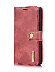 cheap -Case For LG G6 Card Holder with Stand Flip Full Body Cases Solid Color Hard Genuine Leather for LG G6