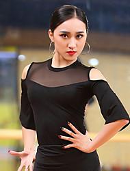 preiswerte -Latein-Tanz Oberteile Damen Leistung Baumwolle Modal Kombination Halbe Ärmel Top