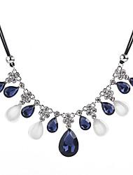 Χαμηλού Κόστους -Γυναικεία Κολιέ Δήλωση - Κρύσταλλο Κρεμαστό Μοντέρνο Μπλε Κολιέ Για Ημερομηνία, Αργίες