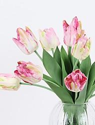 abordables -Fleurs artificielles 1 Une succursale Rustique / Style Simple Tulipes Fleur de Table