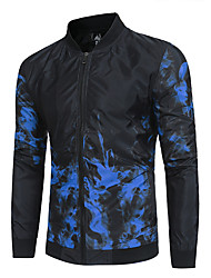 cheap -Men's Military Jacket-Geometric