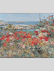 cheap -Oil Painting Hand Painted - Landscape Floral / Botanical Modern Canvas