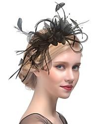 economico -Lino fascinators cappelli Copricapo Accessori per capelli with Piume 1pc Matrimonio Party / serata Copricapo