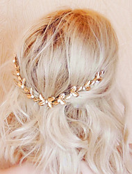 cheap -Alloy Hair Combs with Imitation Pearl 1pc Wedding Party / Evening Headpiece