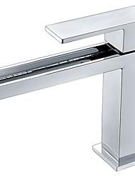 abordables -Robinet lavabo - Jet pluie Chrome Vasque Mitigeur un trou