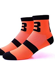 cheap -Sport Socks / Athletic Socks Bike / Cycling Socks Unisex Cycling / Bike Anatomic Design / Breathability / Limits Bacteria 1 Pair Autumn / Fall / Summer Stripe / Letter & Number Nylon / Elastane