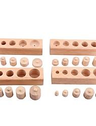 abordables -Socket Blocks Toy Jouet Educatif Famille Interaction parent-enfant En bois 24pcs Haute qualité Enfant Cadeau