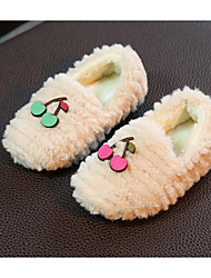 cheap -Girls' Shoes Fleece Fall Winter Comfort Slippers & Flip-Flops for Casual White Black Pink