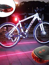 cheap -Rear Bike Light / Safety Light / Tail Light LED Bike Light LED Cycling Portable, Lightweight Rechargeable Battery 300 lm Batteries Powered Red / Blue Cycling / Bike