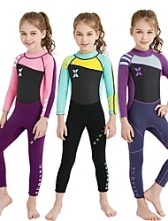 Girls  Full Wetsuit 2mm SCR Neoprene Diving Suit UV Resistant High  Elasticity Stretchy Long Sleeve Back Zip Patchwork   UPF50+ 80586db27