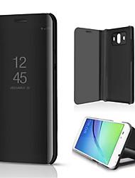 Недорогие -Кейс для Назначение Huawei Mate 10 Mate 10 lite со стендом Зеркальная поверхность Чехол Однотонный Твердый Кожа PU для Mate 10 lite Mate