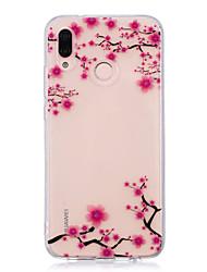 economico -Custodia Per Huawei P20 lite P20 Pro IMD Transparente Fantasia / disegno Per retro Fiore decorativo Morbido TPU per Huawei P20 lite