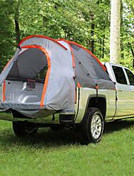 baratos -2 Pessoas Barraca para Caminhonete Dupla Camada Barraca de acampamento Ao ar livre Tenda Dobrada Á Prova-de-Chuva / A Prova de Vento para