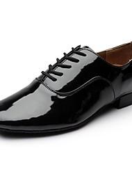 preiswerte -Herrn Schuhe für den lateinamerikanischen Tanz PU Sneaker Flacher Absatz Maßfertigung Tanzschuhe Schwarz / Innen