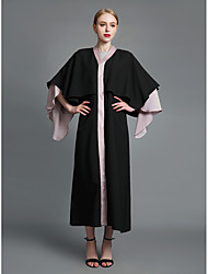 cheap -Women's Sophisticated Street chic Shift Swing Abaya Dress - Solid Colored Color Block