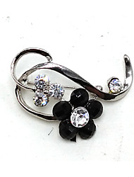 cheap -Women's Brooches - Metallic Line Silver / Black Brooch For Party