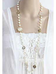 cheap -Collar Necklace  -  Flower Fashion White 80 cm Necklace For Daily, Evening Party