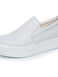 povoljno -Žene Cipele Koža Proljeće Jesen Udobne cipele Natikače i mokasinke Creepersice za Kauzalni Obala Crn Crvena
