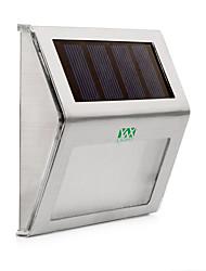 abordables -YWXLIGHT® 1pc 2W Applique murale Solaire Imperméable Contrôle de la lumière Eclairage Extérieur Blanc Chaud Blanc Froid DC3.7V