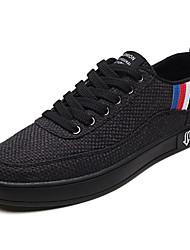 billige -Herre Sko Stof Forår Efterår Komfort Sneakers for Afslappet Hvid Sort Beige
