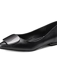 povoljno -Žene Cipele Koža Mekana koža Proljeće Jesen Udobne cipele Ravne cipele Ravna potpetica za Kauzalni Crn Sive boje Crvena