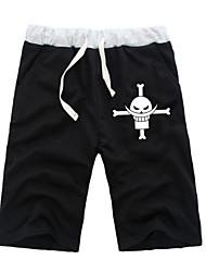 economico -Ispirato da One Piece Monkey D. Luffy Anime Costumi Cosplay Cosplay Tops / Bottoms Tinta unita Manga ½ Pant Pantaloncini Per Tutti