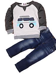 povoljno -dječački set za odjeću u boji, siva sivu