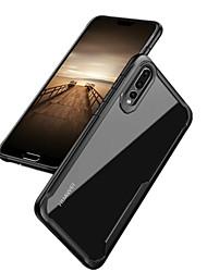 Недорогие -Кейс для Назначение Huawei P20 Pro P20 Защита от удара Кейс на заднюю панель Однотонный Твердый ПК для Huawei P20 Pro Huawei P20