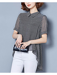 abordables -Mujer Básico Blusa A Rayas