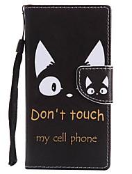 Недорогие -Кейс для Назначение Sony Xperia XZ1 Compact Xperia XZ1 Бумажник для карт Кошелек со стендом Флип Магнитный Чехол Кот Твердый Кожа PU для
