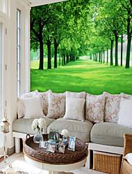 Недорогие -пользовательские газонные леса 3d большие настенные покрытия фрески обои подходят спальня ресторан пейзаж