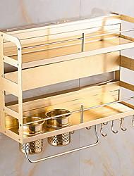 economico -Organizzazione della cucina Scaffali e porta-oggetti lega di alluminio Facile da usare 1pc