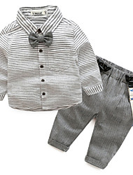 cheap -Baby Boys' Striped 3/4 Length Sleeves Clothing Set
