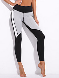 cheap -Women's Sporty Legging - Color Block Mid Waist