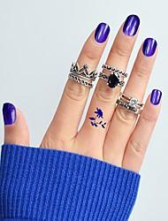 Недорогие -Ring Set - 6шт Круглый В форме короны Классический Мода Серебряный Кольцо Назначение Повседневные Свидание