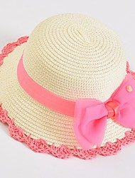 cheap -Girls' Hats & Caps, Summer Roman Knit Green White Blushing Pink Beige Fuchsia