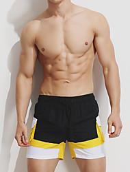 povoljno -Muškarci Gaćice - Color block, Kratke hlače Vezanje straga