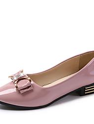 cheap -Women's Shoes PU(Polyurethane) Spring / Summer Comfort / Gladiator / Light Soles Flats Flat Heel Round Toe White / Black
