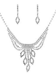 cheap -Women's Drop Jewelry Set 1 Necklace / Earrings - Classic / Vintage / Elegant Geometric Silver Jewelry Set / Drop Earrings / Choker