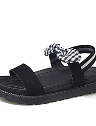 Rabais Exclusif meilleur Mujer Zapatos PU Verano Confort Sandalias Tacón Plano Negro / Color Camello / Caqui VJSUyt1He