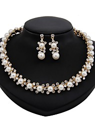 cheap -Women's Jewelry Set - Imitation Pearl, Gold Plated Flower Simple, Fashion Include Bridal Jewelry Sets Gold For Wedding / Office & Career