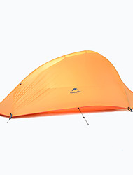cheap -Naturehike 1 person Double Camping Tent One Room Backpacking Tents Quick Dry Windproof Rain-Proof for Camping / Hiking 2000-3000 mm