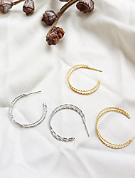 cheap -Hoop Earrings - Simple, Korean, Fashion Gold / Silver For Gift / Daily