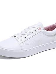 Недорогие -Жен. Обувь Полотно Весна / Осень Удобная обувь Кеды На плоской подошве Круглый носок Белый / Синий / Розовый