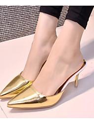povoljno -Žene Cipele Lakirana koža Proljeće Jesen Udobne cipele Klompe i natikače Stiletto potpetica za Kauzalni Zlato Pink Crvena